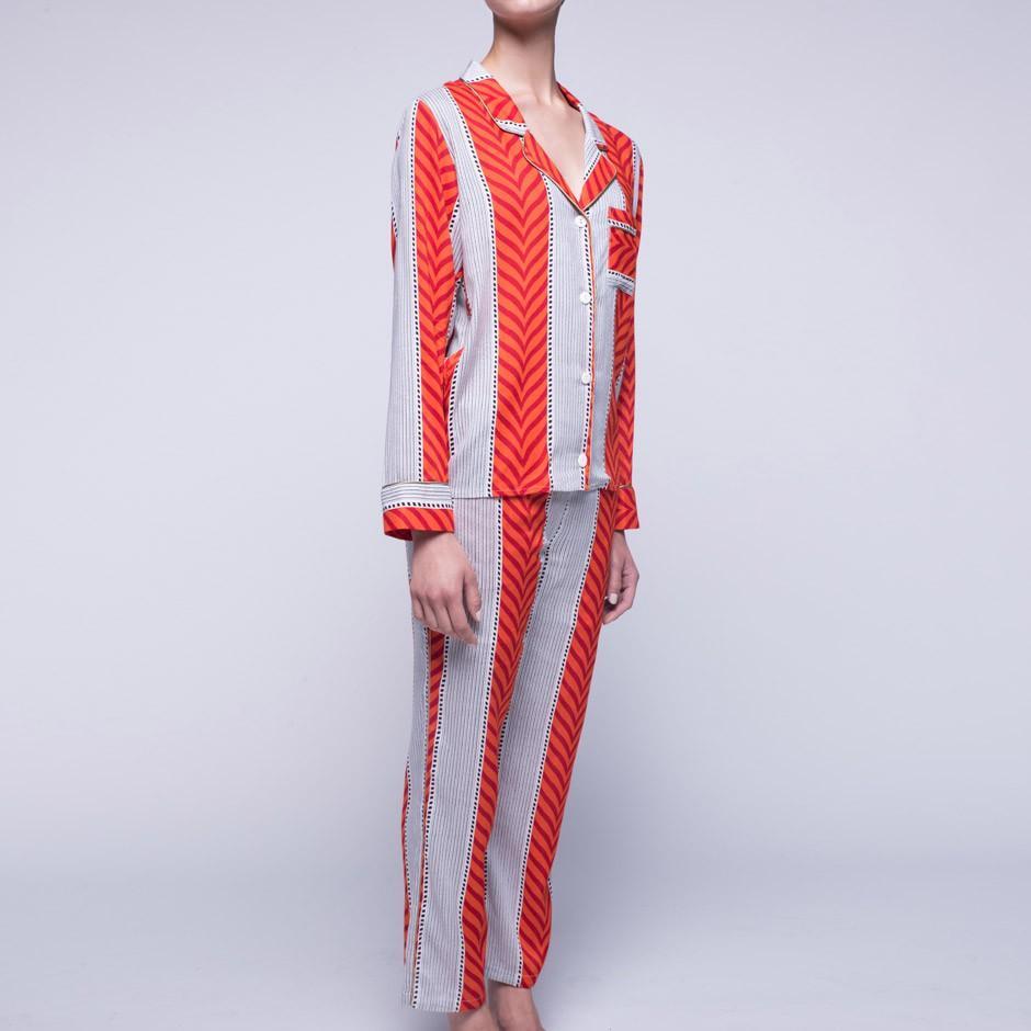 Orange Striped Pajama