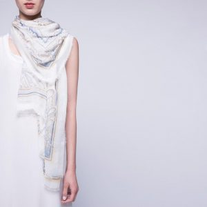 White and Blue Foulard