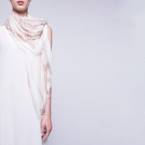 White and Blush Foulard