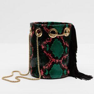 Green pythone Bag