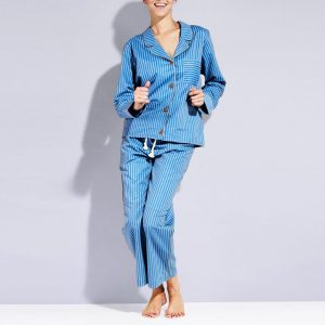Light Blue Striped Pajama
