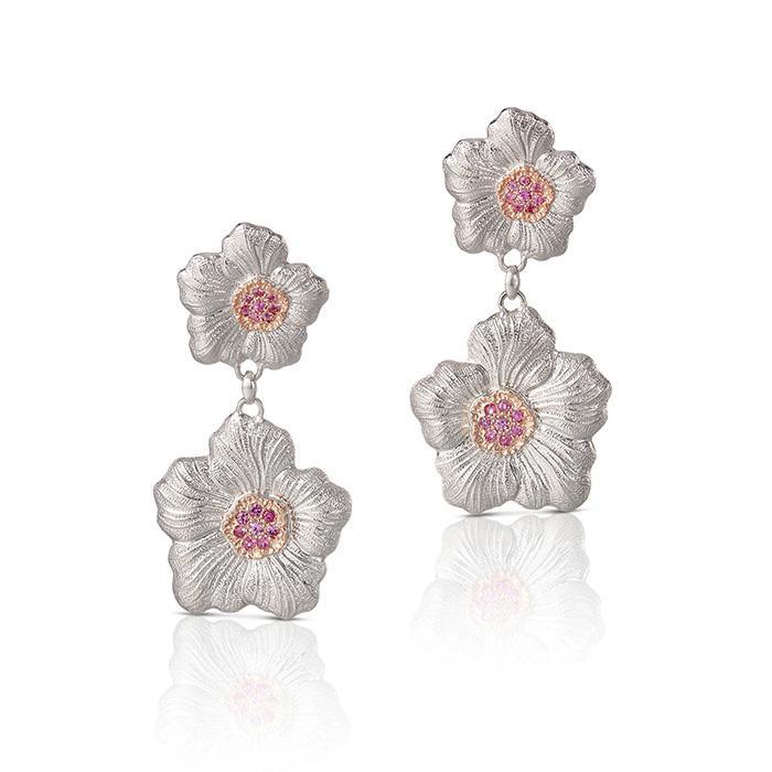 Blossoms Gardenia Pendant Earrings